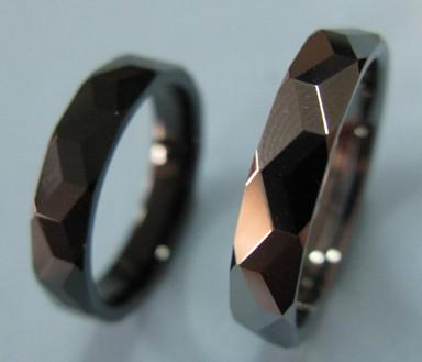 faceted tungsten carbide rings