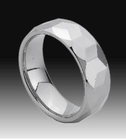 tungsten faceted rings