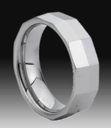 tungsten carbide faceted ring