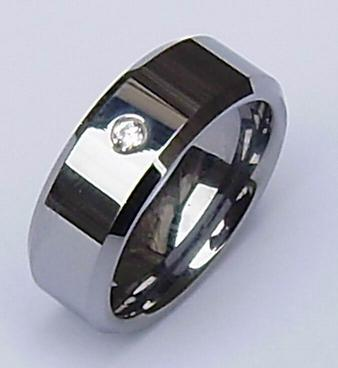 tungsten CZ stone rings