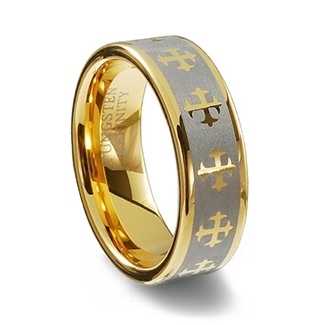 tungsten gold plated ring