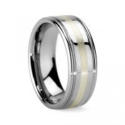 Tungsten Inlay Rings